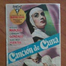 Cine: CANCIÓN DE CUNA . Lote 56949351
