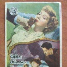 Cine: 1951 PACTO TENEBROSO - CLAUDETTE COLBERT. Lote 56949409