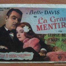 Cine: LA GRAN MENTIRA - BETTE DAVIS. Lote 56949417