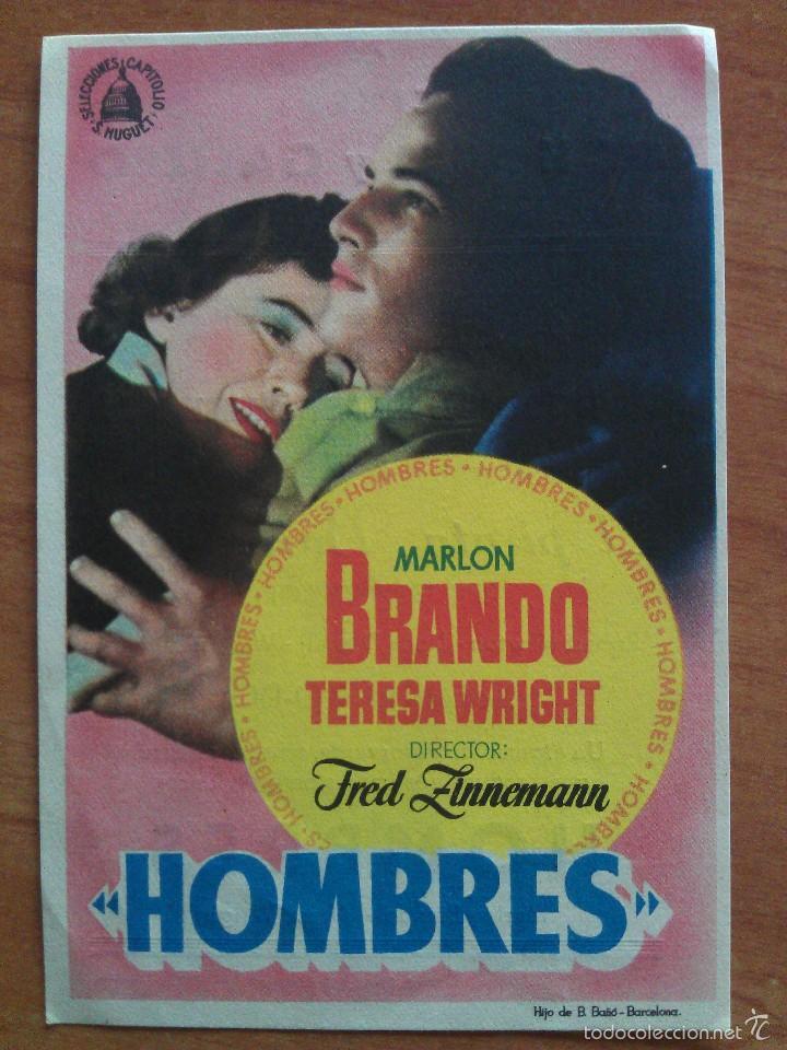 1955 HOMBRES - MARLON BRANDO (Cine - Folletos de Mano - Drama)