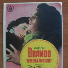Cine: 1955 HOMBRES - MARLON BRANDO. Lote 56949423
