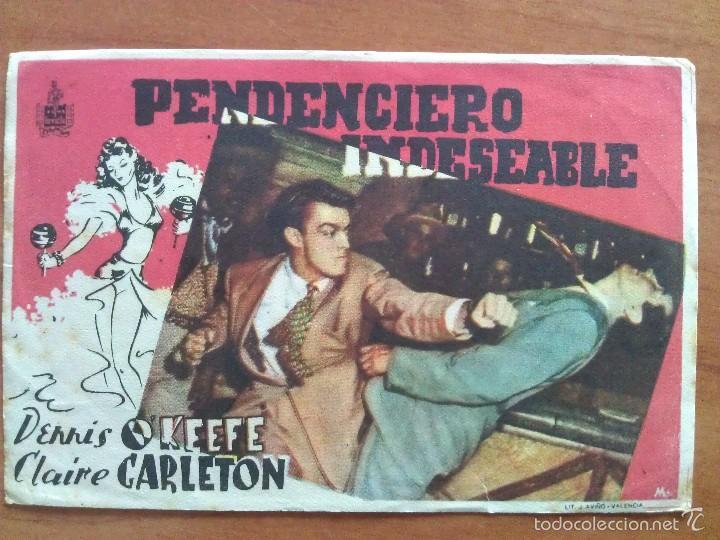 PENDNCIERO INDESEABLE - SIN PUBLICIDAD (Cine - Folletos de Mano - Drama)
