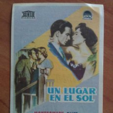 Cine: 1954 UN LUGAR EN EL SOL - MONTGOMERY CLIFT. Lote 56949483