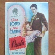 Cine: PAULA - GLENN FORD - SIN PUBLICIDAD. Lote 56949498