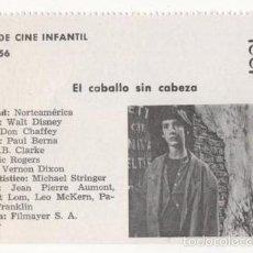 Cine: (ALB-TC-1) FICHERO DE CINE INFANTIL OTRO AIRE EL CABALLO SIN CABEZA. Lote 56998164