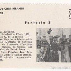 Cine: (ALB-TC-1) FICHERO DE CINE INFANTIL OTRO AIRE FANTASIA 3. Lote 56998167