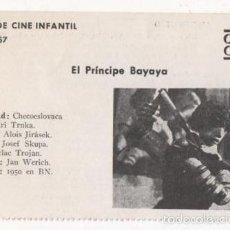 Cine: (ALB-TC-1) FICHERO DE CINE INFANTIL OTRO AIRE EL PRINCIPE BAYAYA. Lote 56998179