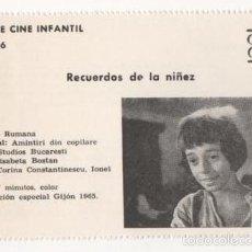 Cine: (ALB-TC-1) FICHERO DE CINE INFANTIL OTRO AIRE RECUERDOS DE LA NIÑEZ. Lote 56998196