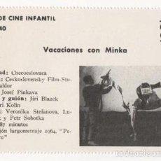 Cine: (ALB-TC-1) FICHERO DE CINE INFANTIL OTRO AIRE VACACIONES CON MINKA. Lote 56998201