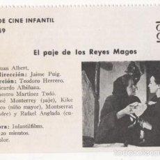 Cine: (ALB-TC-1) FICHERO DE CINE INFANTIL OTRO AIRE EL PAJE DE LOS REYES MAGOS. Lote 56998207