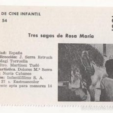 Cine: (ALB-TC-1) FICHERO DE CINE INFANTIL OTRO AIRE TRES SAGAS DE ROSA MARIA. Lote 56998214