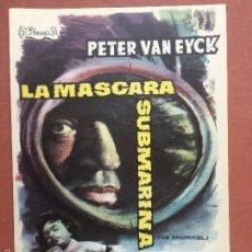 Cine: LA MÁSCARA SUBMARINA - PETER VAN EYCK -FALBUN. Lote 158822706