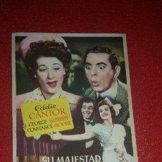 Cine: PROGRAMA CINE SU MAJESTAD LA FARSA EDDIE CANTOR. Lote 57023119