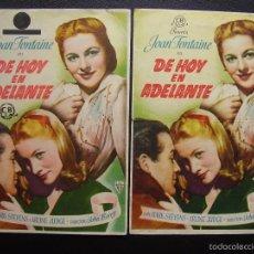 Cine: DE HOY EN ADELANTE, JOAN FONTAINE, VARIANTE DE DISTRIBUIDORA. Lote 57073665