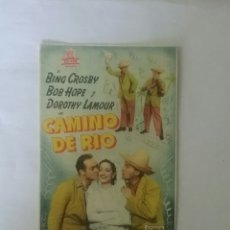 Cine: CAMINO DE RÍO. ( PROGRAMA DE CINE ).. Lote 57076662