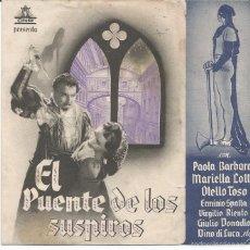 Cine: EL PUENTE DE LOS SUSPIROS - DOBLE CIFESA - PUBLICIDAD TEATRO CALDERÓN. Lote 57090843