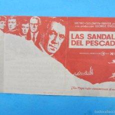 Cine: LAS SANDALIAS DEL PESCADOR , ANTHONY QUINN , PROGRAMA DOBLE. Lote 57097981
