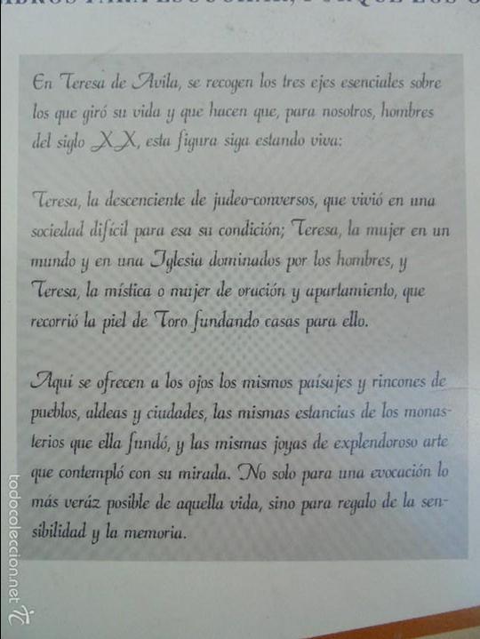 Cine: LA ESPAÑA AUTENTICA. BIBLIOTECA AUDIOVISUAL. TERESA DE AVILA. JOSE JIMENEZ LOZANO. 2 VHS. VER FOTOS. - Foto 11 - 57113049