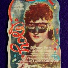 Cine: PROGRAMA DE CINE DE MANO ORIGINAL. TROQUELADO. HOLE. ANTONIO VICO, LUIS PEÑA.. CIUDAD LINEAL. MADRID. Lote 57162147