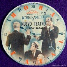 Cine: PROGRAMA DE CINE DE MANO ORIGINAL. TROQUELADO. BORIS KARLOFF. NUEVO TEATRO.. Lote 57164227