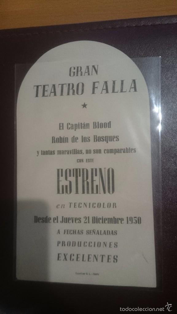 Cine: PROGRAMA DE CINE TROQUELADO CON PUBLICIDAD EL HALCON Y LA FLECHA - Foto 2 - 57165545