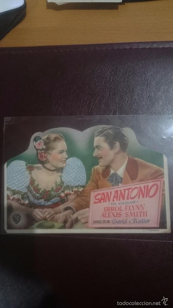 PROGRAMA TROQUELADO CON PUBLICIDAD SAN ANTONIO (Cine - Folletos de Mano - Clásico Español)