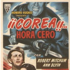 Cine: COREA ...HORA CERO - ROBERT MITCHUM, ANN BLYTH - DIRECTOR TAY GARNETT - RKO RADIO. Lote 57196478
