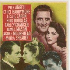 Cine: TRES AMORES - PIER ANGELI, ETHEL BARRYMORE, LESLIE CARON, KIRK DOUGLAS, JAMES MASON - MGM. Lote 57201418