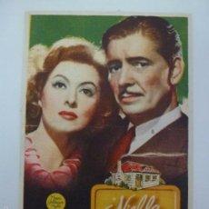 Folhetos de mão de filmes antigos de cinema: PROGRAMA. NIEBLA EN EL PASADO. GREER GARSON. C/P. Lote 57213685