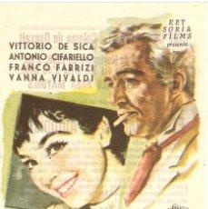 Cine: ¡ADIOS JUVENTUD! - VITTORIO DE SICA, ANTONIO CIFARIELLO, FRANCO FABRIZI, VANNA VIVALDI - JANO. Lote 57218463