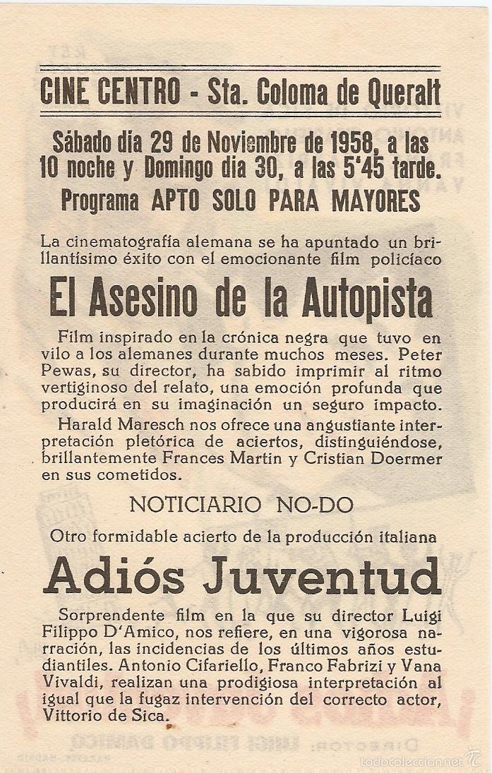 Cine: ¡ADIOS JUVENTUD! - VITTORIO DE SICA, ANTONIO CIFARIELLO, FRANCO FABRIZI, VANNA VIVALDI - JANO - Foto 2 - 57218463