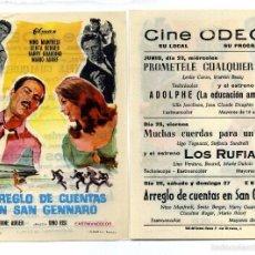 Cine: ARREGLO DE CUENTAS EN SAN GENNARO, CON NINO MANFREDI. C/I.. Lote 171710739