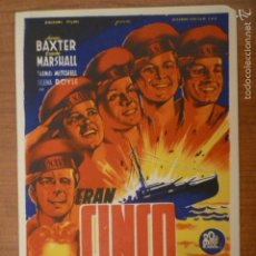 Cine: PROGRAMA DE CINE ERAN CINCO HERMANOS SIN PUBLICIDAD.. Lote 57272754