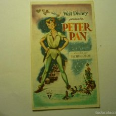 Cine: PROGRAMA PETER PAN-DISNEY BB. Lote 57362502