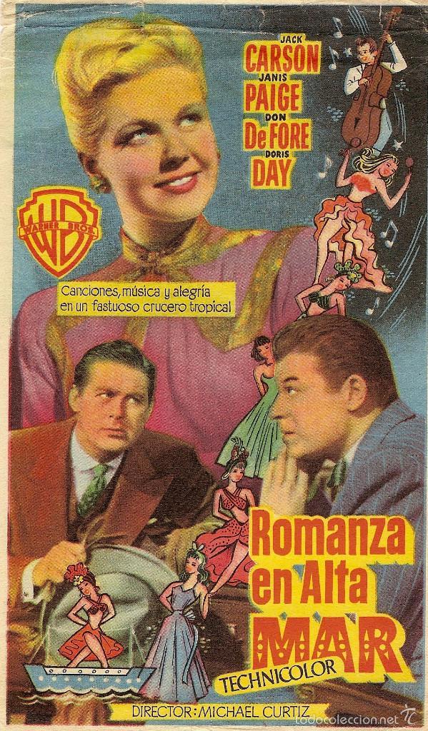 ROMANZA EN ALTA MAR- WARNER BROS- DORIS DAY-MICHAEL CURTIZ- SIN PUBLICIDAD (Cine - Folletos de Mano - Comedia)