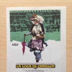 Cine: PROGRAMA DE MANO LA LOCA DE CHAILLOT (1969) - KATHARINE HEPBURN. Lote 57384720