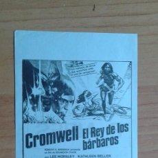Cine: PROGRAMA DE CINE LOCAL --`CROMWELL EL REY DE LOS BARBAROS. Lote 57388409