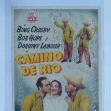Cine: PROGRAMA DE CINE CAMINO DE RIO. IDEAL CINEMA.. Lote 57411895