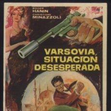 Cine: P-6372- VASOVIA, SITUACION DESESPERADA (PASSEPORT DIPLOMATIQUE AGENT K 8) (ROGER HANIN). Lote 57420454