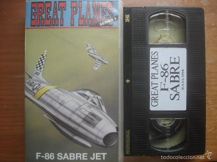 VHS F-86 SABRE JET. GREAT PLANES. AVIACIÓN (Cine - Folletos de Mano - Documentales)