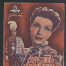 Cine: PROGRAMA EL ÚLTIMO HUSAR- CONCHITA MONTENEGRO-LUIS MARQUINA CON PUBLICIDAD. Lote 57439918