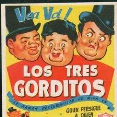 Cine: LOS TRES GORDITOS (CON PUBLICIDAD). Lote 57444114