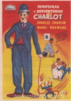 AVENTURAS Y DESVENTURAS DE CHARLOT (CON PUBLICIDAD) (Cine - Folletos de Mano - Comedia)