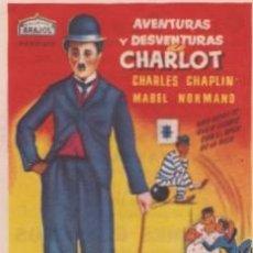 Cine: AVENTURAS Y DESVENTURAS DE CHARLOT (CON PUBLICIDAD). Lote 57444141