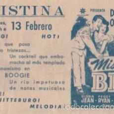 Folhetos de mão de filmes antigos de cinema: MISTER BIG (CON PUBLICIDAD). Lote 57477463