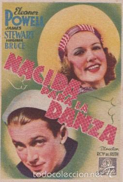 NACIDA PARA LA DANZA (CON PUBLICIDAD) (CARTÓN) (Cine - Folletos de Mano - Musicales)