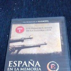 Folhetos de mão de filmes antigos de cinema: ESPAÑA EN LA MEMORIA N1 LOS PRIMEROS MESES DE LA GUERRA CIVIL. Lote 57507338