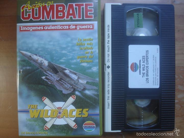 VHS THE WILD ACES. LOS BRAVOS EXPERTOS. AVIACIÓN (Cine - Folletos de Mano - Documentales)