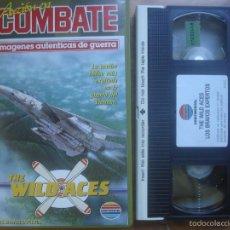 Folhetos de mão de filmes antigos de cinema: VHS THE WILD ACES. LOS BRAVOS EXPERTOS. AVIACIÓN. Lote 57558708
