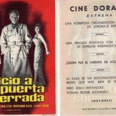 Cine: FOLLETO DE MANO JUICIO A PUERTA CERRADA CON EVA BARTOK, PETER VAN EYCK.... CINE DORADO ZARAGOZA. Lote 199329158